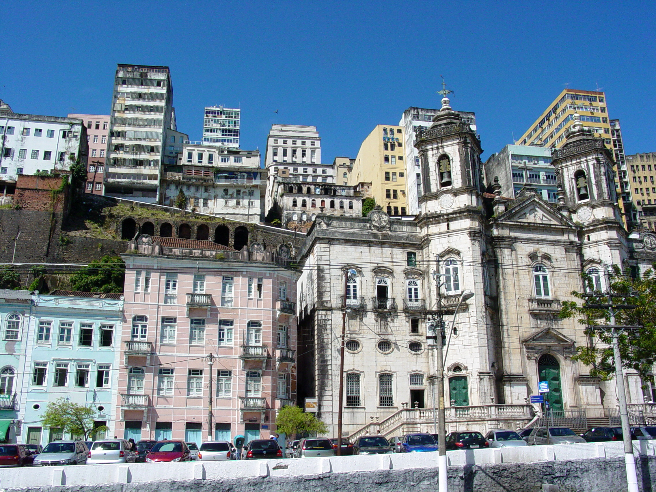 Salvador_-_BrazilBuilding_Facades_-_Harbor_at_