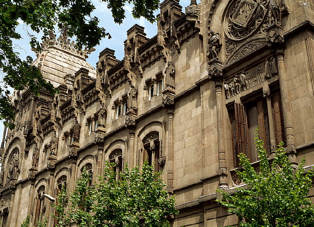Exterior of the Palace of Justice in Barcelona