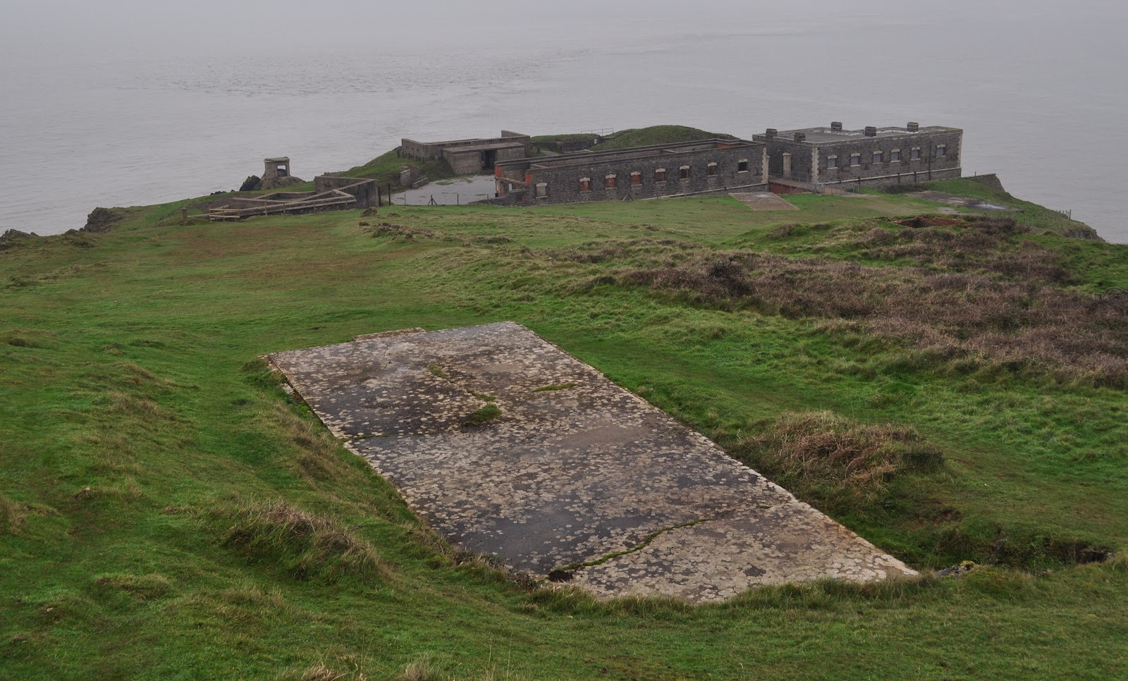 Brean Down Fort (1941 Hardstanding in Foreground)