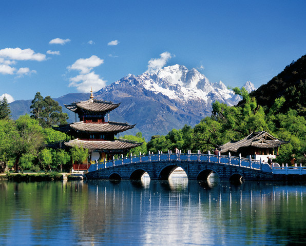 ca. 2004, Lijiang, China --- Black Dragon Pool in Lijiang --- Image by © Jose Fuste Raga/Corbis
